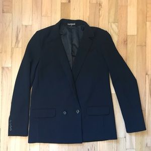 Express double-breasted boyfriend blazer, lined